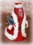 Новогодний сувенир Дед Мороз с разноцветной подсветкой