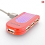 USB-концентратор Belkin Lighted Travel Red (F5U034ERRED)