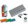 USB Хаб Viewcon VE410, USB 2.0, 4 port, Silver, с БП, блистер