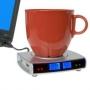 USB Хаб нагреватель с часами и термометром