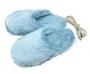 Тапочки с подогревом от USB Голубые