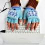 Перчатки с подогревом от USB Голубые