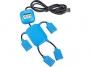 USB делитель на 4 порта в виде человечка, синий
