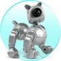 Веб-камера для компютера в виде собачки (серебряная версия)